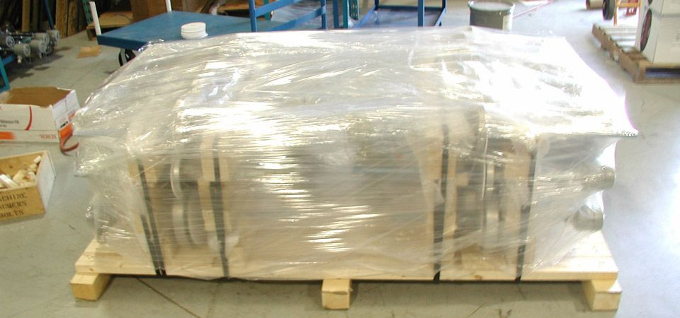 shrink wrapped pallet