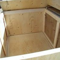 interior of prefabricated crate